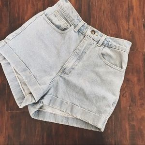 Vintage American Apparel high waisted denim shorts